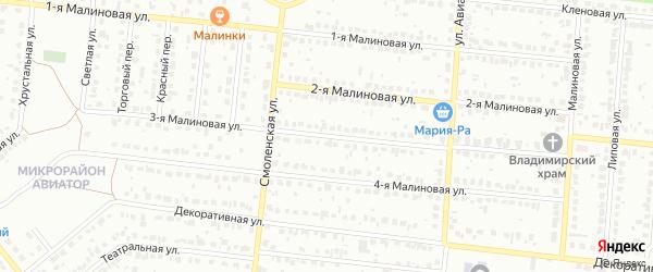 Малиновая 3-я улица на карте Барнаула с номерами домов