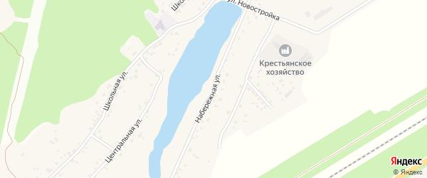 Набережная улица на карте поселка Черницка с номерами домов