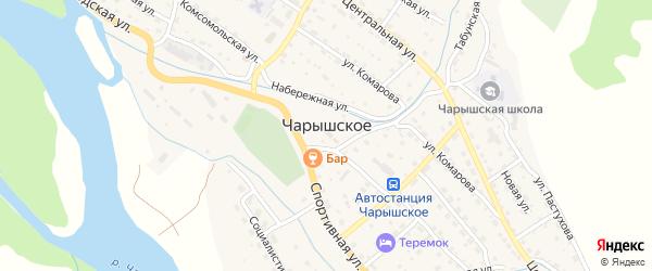 Горная улица на карте Чарышского села с номерами домов