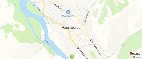 Карта Чарышского села в Алтайском крае с улицами и номерами домов