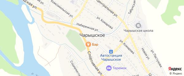 Луговая улица на карте Чарышского села с номерами домов