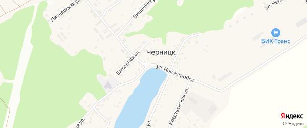 Улица Новостройка на карте поселка Черницка с номерами домов