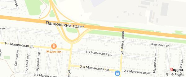 Кленовая улица на карте садового некоммерческого товарищества Полета с номерами домов