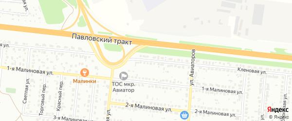 Кленовая улица на карте Барнаула с номерами домов