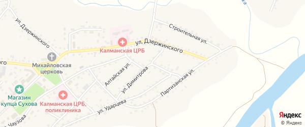 Новый переулок на карте села Калманки с номерами домов