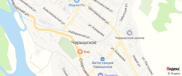 Набережная улица на карте Чарышского села с номерами домов