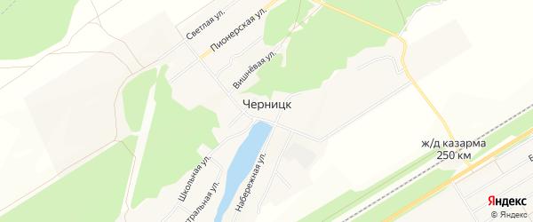 Карта поселка Черницка города Барнаула в Алтайском крае с улицами и номерами домов