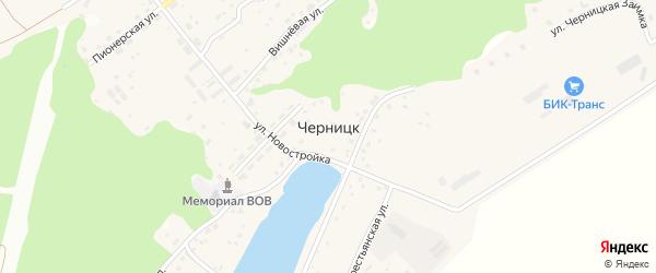 Улица Черницкая Заимка на карте поселка Черницка с номерами домов
