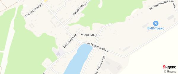 Вишневая улица на карте поселка Черницка с номерами домов
