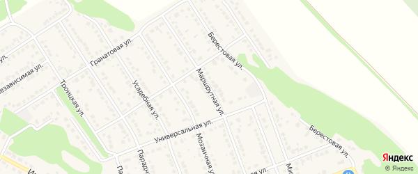 Маршрутная улица на карте села Власихи с номерами домов