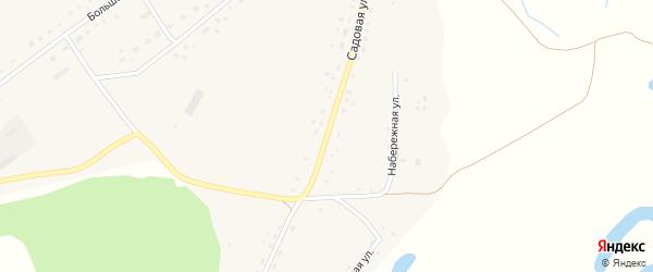 Садовая улица на карте поселка Троицка с номерами домов