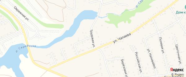 Трудовая улица на карте села Гоньбы с номерами домов