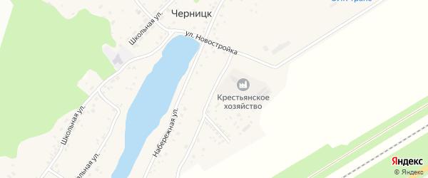 Крестьянская улица на карте поселка Черницка с номерами домов