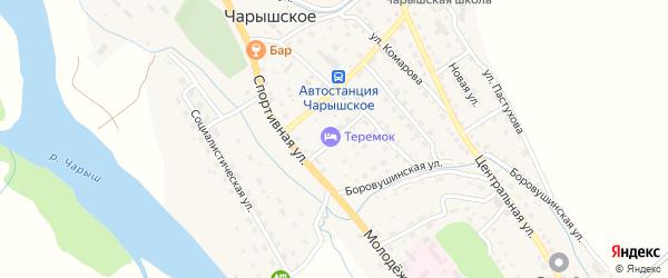Сибирский переулок на карте Чарышского села с номерами домов