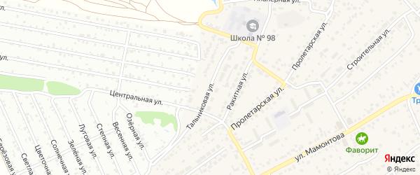 Тальниковая улица на карте села Власихи с номерами домов