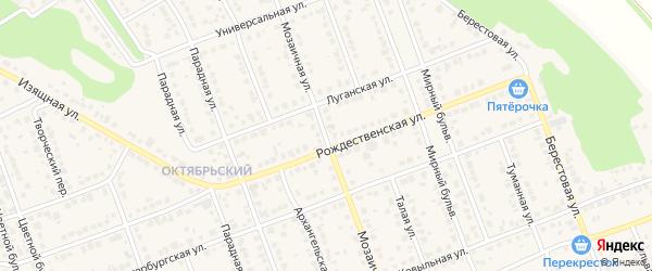 Мозаичная улица на карте села Власихи с номерами домов