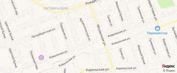 Архангельская улица на карте села Власихи с номерами домов