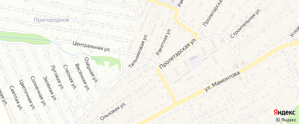 Короткий переулок на карте села Власихи с номерами домов