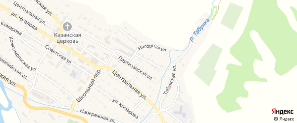 Пролетарская улица на карте Чарышского села с номерами домов