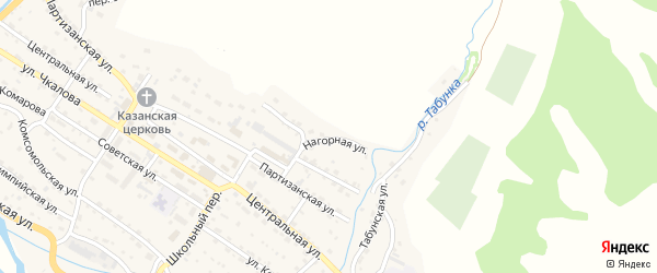 Нагорная улица на карте Чарышского села с номерами домов