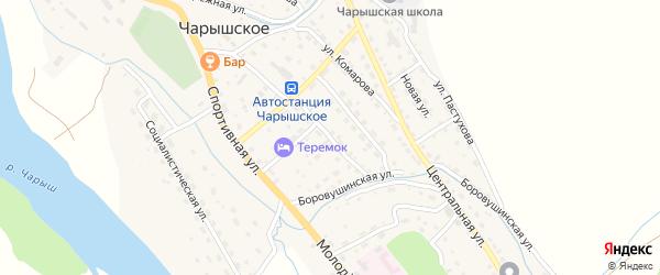 Октябрьская улица на карте Чарышского села с номерами домов