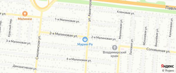 Улица Авиаторов на карте Барнаула с номерами домов