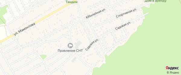 Заснеженный переулок на карте села Власихи с номерами домов