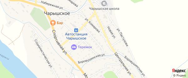 Юбилейная улица на карте Чарышского села с номерами домов