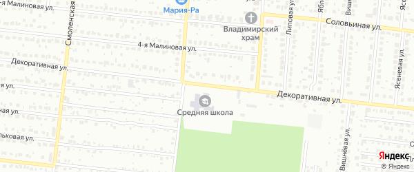 Декоративная улица на карте Барнаула с номерами домов