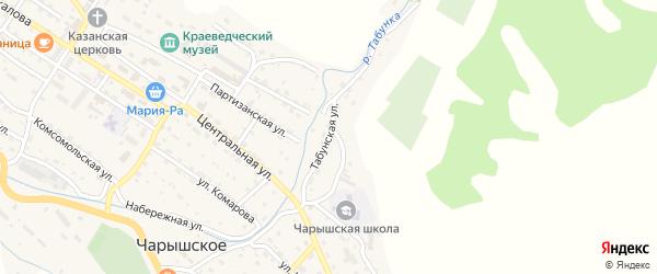 Табунская улица на карте Чарышского села с номерами домов