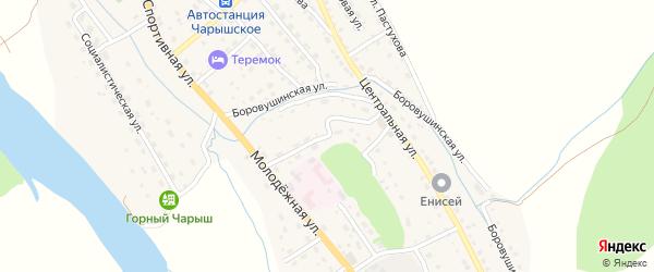Заречная улица на карте Чарышского села с номерами домов