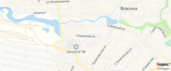 Планерная улица на карте села Власихи с номерами домов