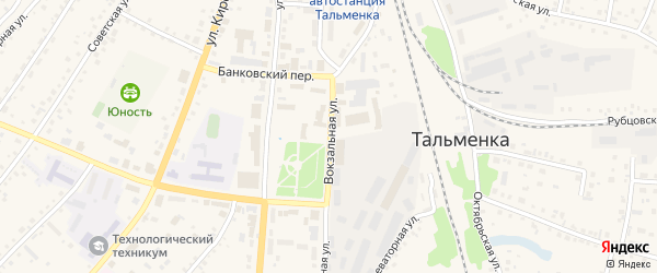 Вокзальная улица на карте Воронежской-Молодежной станции с номерами домов