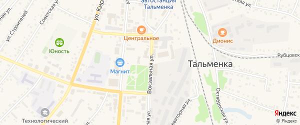 Вокзальная улица на карте разъезда Рямы с номерами домов