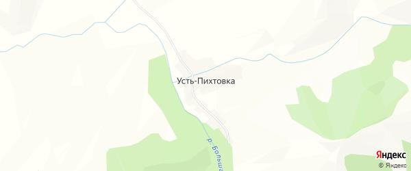 Карта села Усть-Пихтовки в Алтайском крае с улицами и номерами домов
