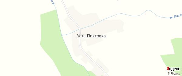 Садовая улица на карте села Усть-Пихтовки с номерами домов