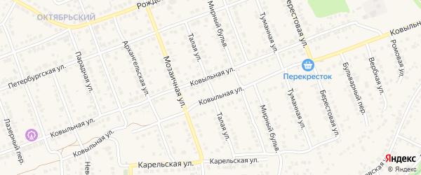 Талая улица на карте села Власихи с номерами домов