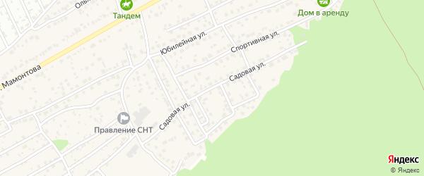 Садовая улица на карте села Власихи с номерами домов