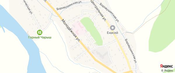 Парковая улица на карте Чарышского села с номерами домов
