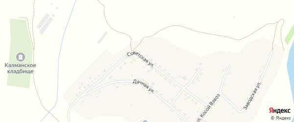 Советская улица на карте села Калманки с номерами домов