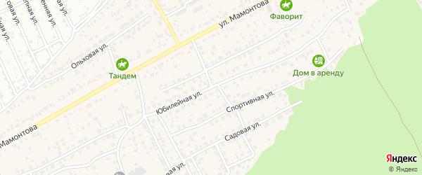Юбилейная улица на карте села Власихи с номерами домов