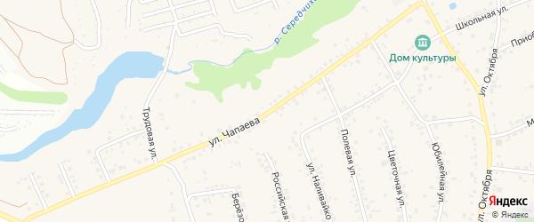 Улица Чапаева на карте села Гоньбы с номерами домов