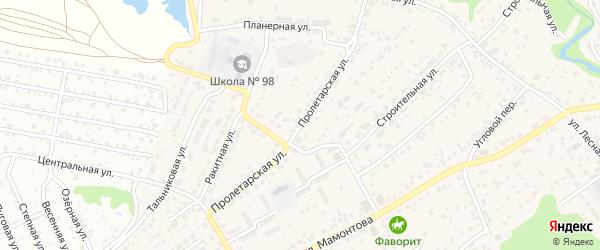 Пролетарская улица на карте села Власихи с номерами домов