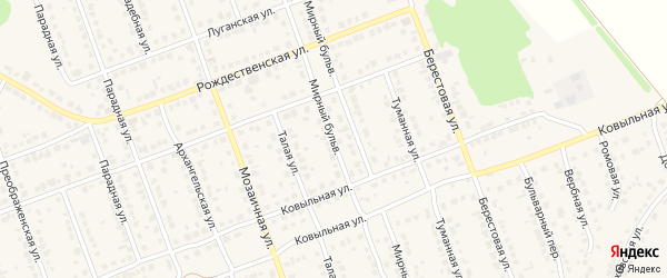 Мирный бульвар на карте села Власихи с номерами домов