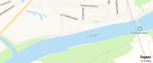 Полигонный переулок на карте поселка Тальменки с номерами домов
