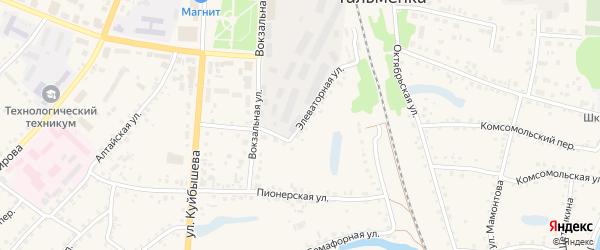 Элеваторная улица на карте поселка Тальменки с номерами домов