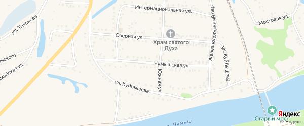 Чумышская улица на карте поселка Тальменки с номерами домов