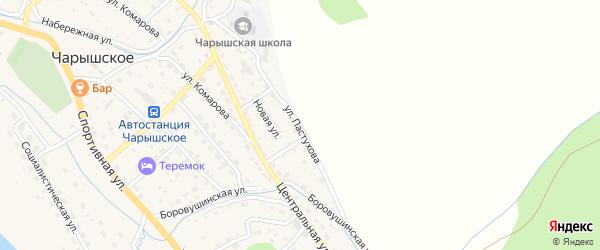 Улица Пастухова на карте Чарышского села с номерами домов