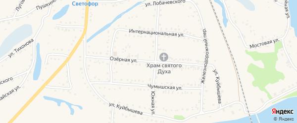 Озерная улица на карте поселка Тальменки с номерами домов