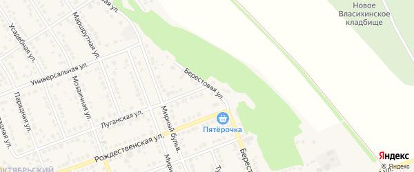 Берестовая улица на карте села Власихи с номерами домов